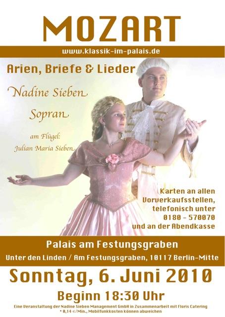 Briefe Von Mozart : Mozart klassik im palais berlin festungsgraben arien