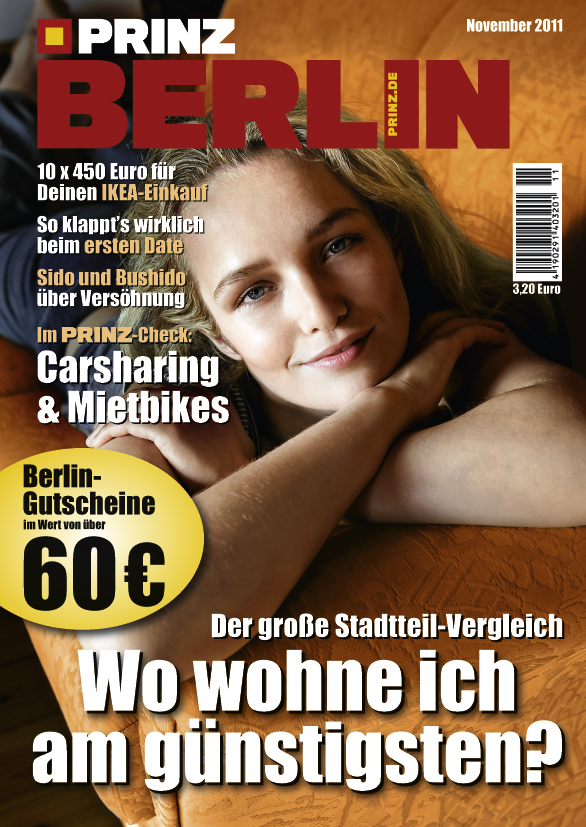 prinz berlin magazin ausgabe november 11 2011 jetzt am kiosk gutschein ikea erstes date. Black Bedroom Furniture Sets. Home Design Ideas