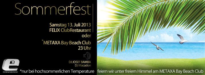 das e-concierge sommerfest 2013 findet dieses jahr am samstag, Einladung