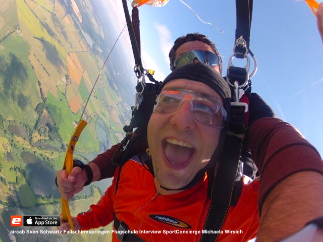 aircab interview sven schwartz fallschirmspringen flugschule sport concierge michaela wirisch