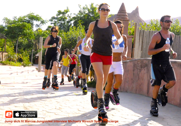 Jump dich fit Fitnesswelle Kangoo Jumps Marcus Jungnickel Interview Michaela Wirsich Sport Concierge