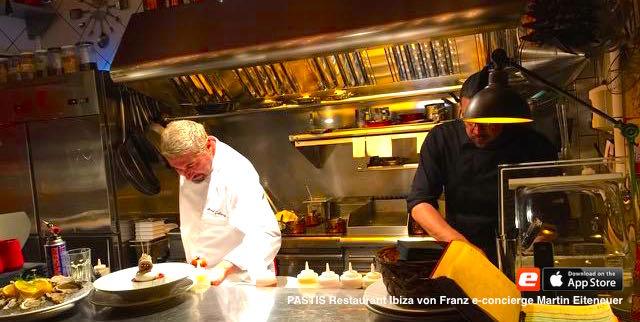 Koch Chef Cuisine PASTIS Franz Restaurant Ibiza Concierge Martin Eiteneuer