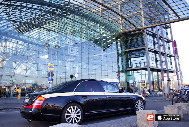 2012 0103 ZDF DREH Berlin Concierge Maybach Limousine Beverly Cars Julia Bauer