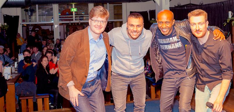 Hofbräu Berlin Comedy Photoconcierge Joerg Unkel Stars Gerry Concierge Johannes Schröder Jochen Prang