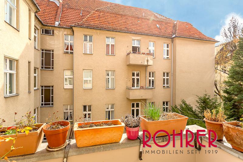 2017 1105 Balkon Innenhof Wohnung 12163 Berlin Steglitz Wilmersdorf Kauf Objekt ID 99893 O 56332 Stilvoll 2 Zimmer ETW vermietet