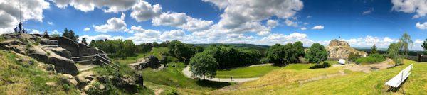 2017 2105 Blankenburg Burg Festung Regenstein April Oktober Wanderung Entdeckung Freimaurer Panorama