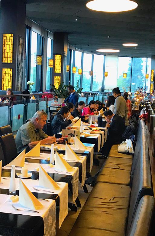 Gruppen Reservierung Zhou Five Lunch Buffet Ente Chop suey Asian Food Gruppe