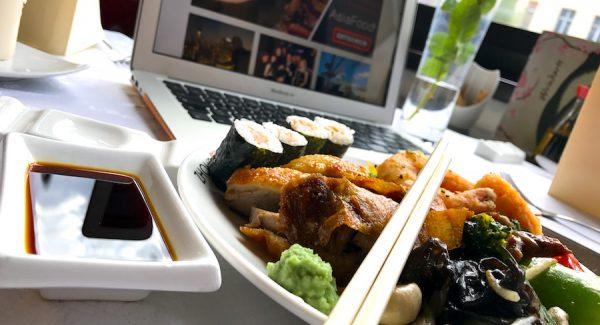 Lunch Gruppe Reservierung ohne Asiatisch Asian Buffet Zhous Five Restaurant Chinesisch