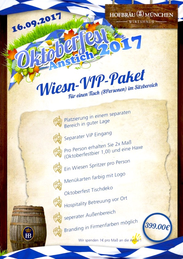 2017 VIP Paket Angebot o zapft anstich Oktoberfest Stars Prominent Hofbraeu Berlin Security Party Concierge Empfehlung Service