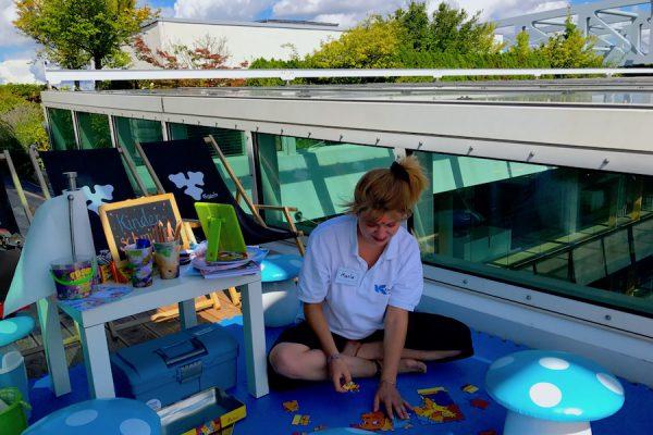 Kinder Schminken Sommerfest eConcierge Stilwerk Rooftop Bar Eventlocation Concierge Gerry