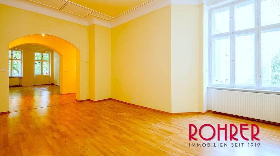 Saal Wohn Essezimmer Wohnung 10587 Berlin Kauf Objekt ID 101957 O 56300 Altbauwohnung Herzen City Spree Rohrer Immobilien