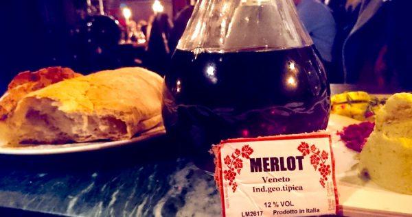 Osteria Maria Menue Speisen Restaurant Wein Merlot