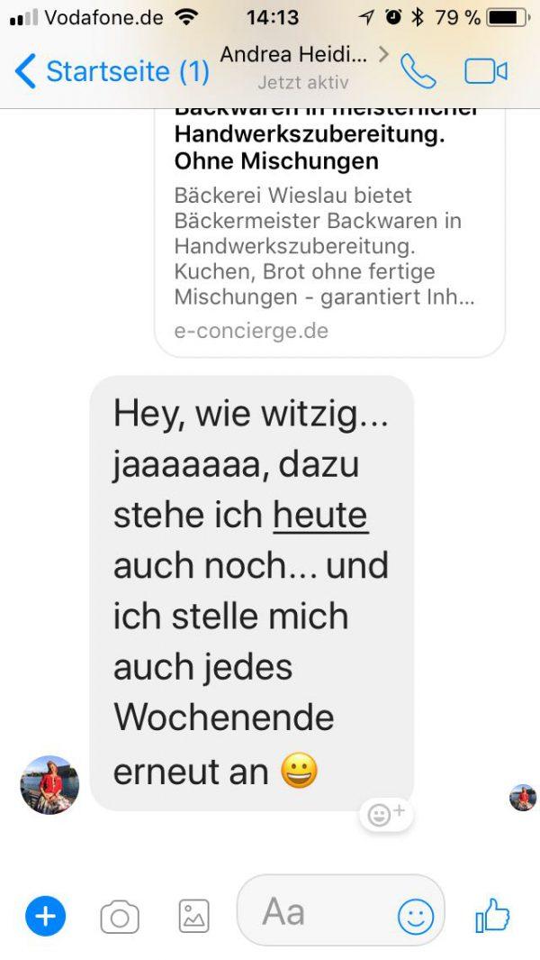 Rezension Baeckerei Wieslau SängereinAndrea Heidi Jahnke